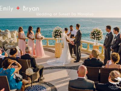 Emily and Bryan Wedding Day at Sunset Da Mona Lisa