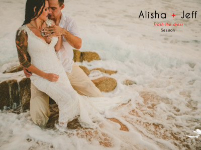 Alisha and Jeff    Trash the dress session